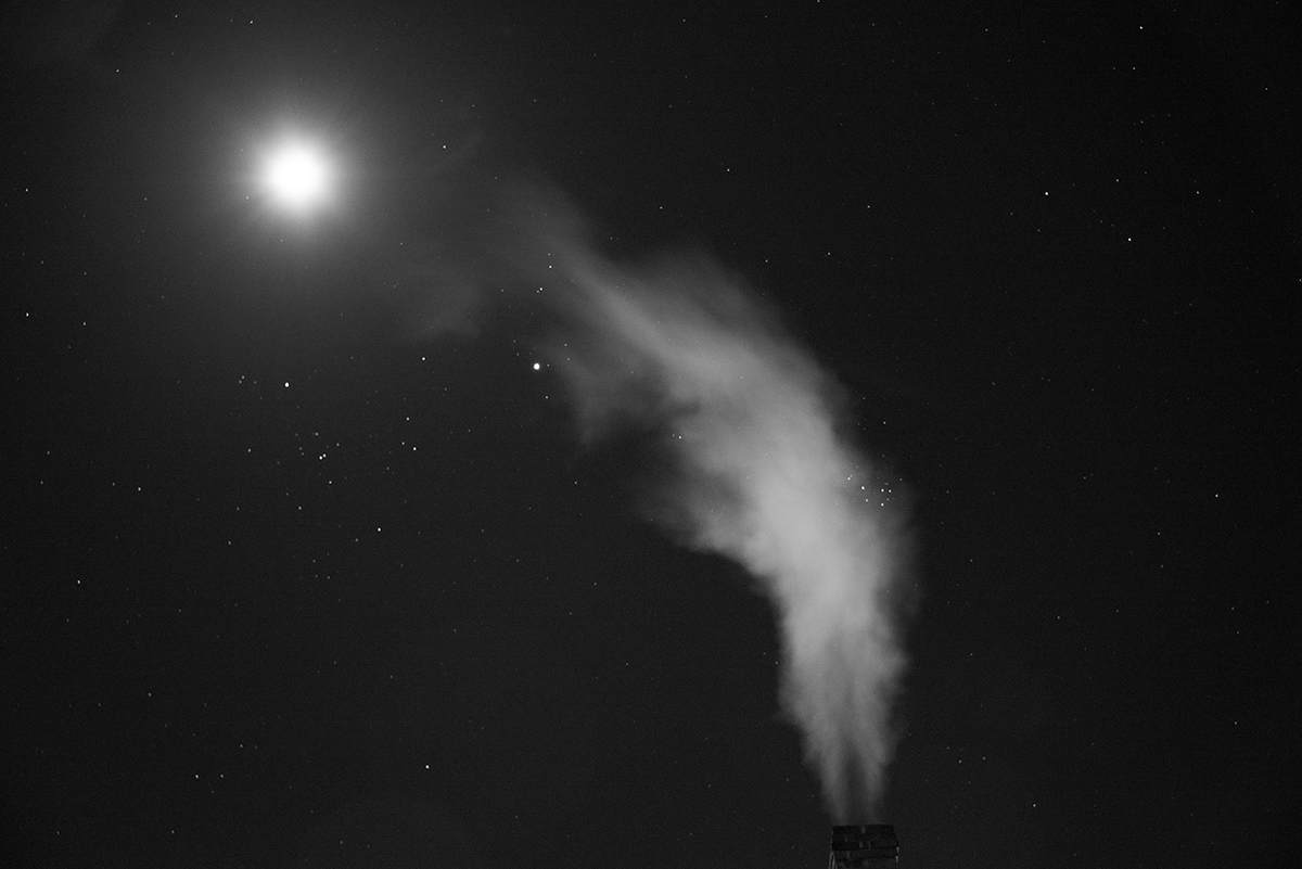 Moon and Furnace Plume