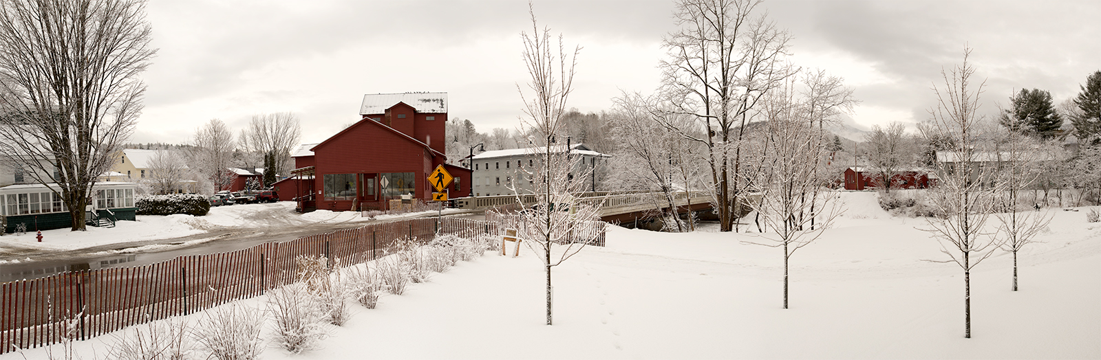 Red Mill in February 28th Snow